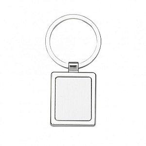 Chaveiro metálico quadrado personalizado - Cód.: 02636XQ