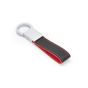 Chaveiro em couro sintético com mosquetão metálico - Cód.: 93370SQ