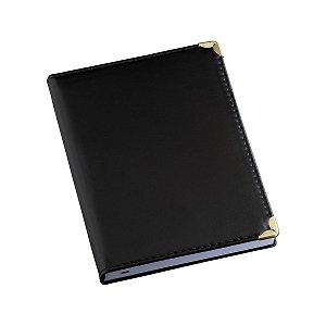 Agenda diária capa em couro sintético liso personalizada - Cód.: 100LQ
