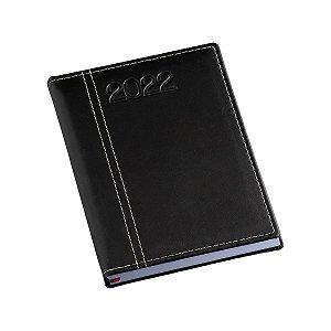 Agenda diária com capa em couro sintético liso personalizada - Cód.: 106LQ
