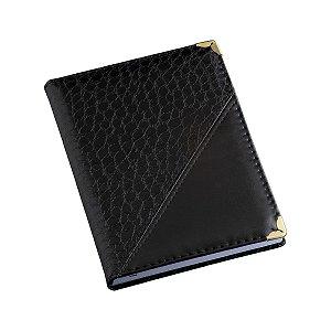 Agenda diária com capa em couro com detalhe croco - Cód.: 110LQ