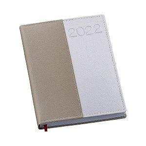 Agenda diária com capa em couro sintético personalizada - Cód.: 167LQ
