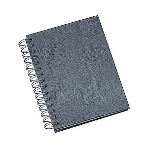 Agenda diária com capa metalizada e espiral personalizada - Cód.: 280LQ