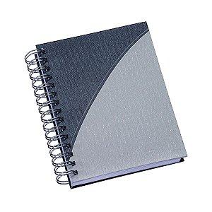 Agenda diária espiral com capa metalizada e detalhe colorido - Cód.: 410LQ