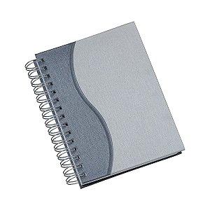 Agenda diária espiral com capa metalizada e detalhe colorido - Cód.: 280LSQ