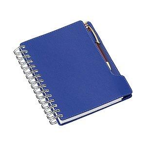 Agenda diária espiral em couro sintético com porta caneta - Cód.: 288LQ