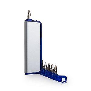 Mini kit ferramentas 6 peças com led personalizado - Cód.: 143130PQ