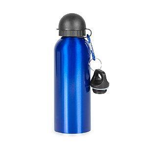 Squeeze metálica 500 ml. com 2 tampas e mosquetão - Cód.: 9139MXQ