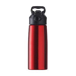 Squeeze metálica 700 ml. com bico retrátil e alça - Cód.: 143217PQ