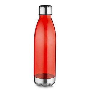 Squeeze plástico 700 ml com tampa e base metálica - Cód.: 14540XQ