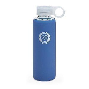 Squeeze de vidro 380 ml com suporte em silicone - Cód.: 94668SQ