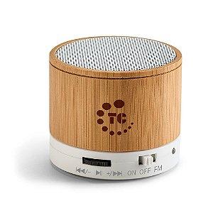 Caixa de som multimídia em bambu personalizada – Cód. 97256SQ