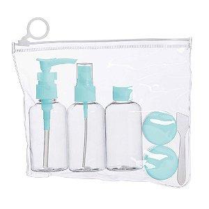 Kit nécessaire e frascos plásticos para viagem personalizado – Cód.: 18536XQ