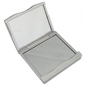 Espelho de bolsa personalizado com lente de aumento – Cód.: 01764XQ