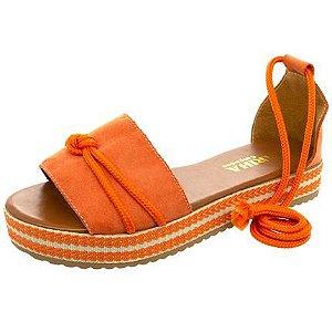 Sandalia Mariha Calçados Chic Verão Laranja