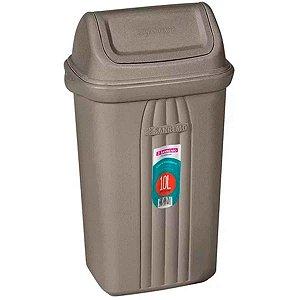 Lixeira Basculante Plástico Cinza 10 litros Sanremo