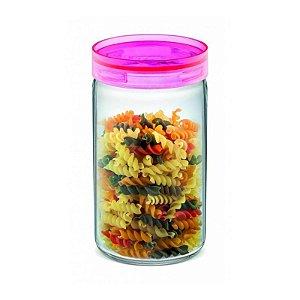 Pote de Vidro Hermético para Mantimentos 1 litro Rosa Sanremo