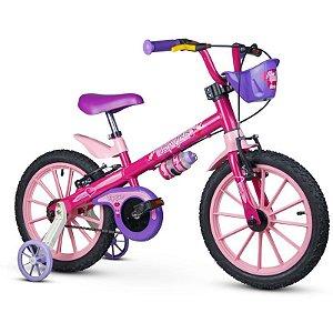 "Bicicleta Infantil Aro 16"" Rosa Top Girls Nathor"