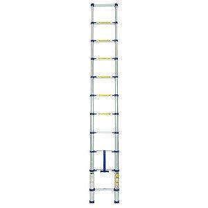Escada Alumínio Telescópica 10 degraus Mor