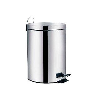 Lixeira Aço Inox 5 litros Ágata Mor
