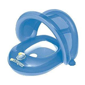 Boia Bote Inflável com Cobertura para Bebê Azul Bestway
