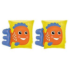 Boia Braço Infantil Bichinho Amarelo Peixe Mor