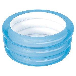 Banheira Inflável 80 litros Azul Mor