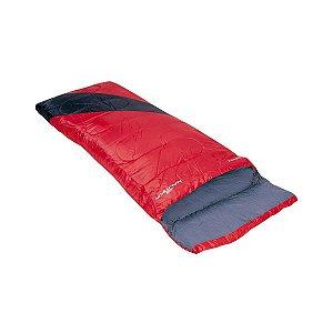 Saco de Dormir Liberty Vermelho e Preto 4°c a 10°c Nautika