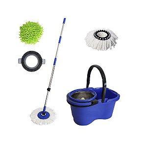 Balde Mop Pro 360 Inox com 3 Refis Perfect Mop