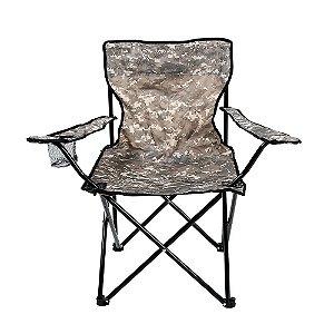 Cadeira Dobrável Araguaia Camuflado para Camping Belfix