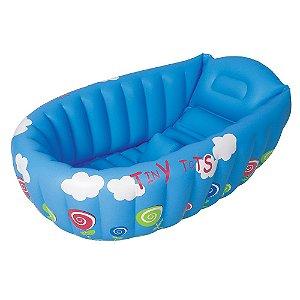 Banheira Bebê Inflável Azul Mor