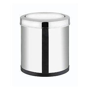 Lixeira em Aço Inox com Tampa Basculante 8 litros Viel