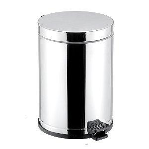 Lixeira em Aço Inox com Pedal 10,5 litros Viel