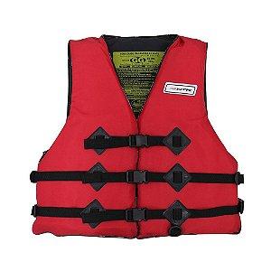 Colete Salva Vidas Homologado 55 kg até 110 kg Vermelho Nautika
