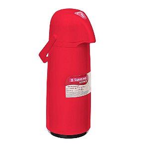 Garrafa Térmica Vermelha em Plástico Expressar 1 litro Sanremo