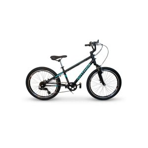 """Bicicleta Apollo Preto e Azul Aro 24"""" 6 Velocidades Shimano Nathor"""