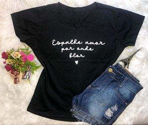 T-Shirt Espalhe Flor