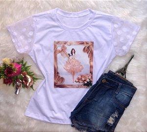 T-Shirt Menina Dourada