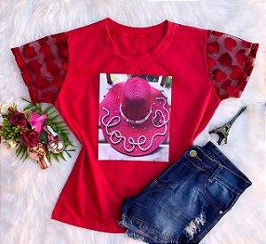 T-Shirt Chapéu Vermelho
