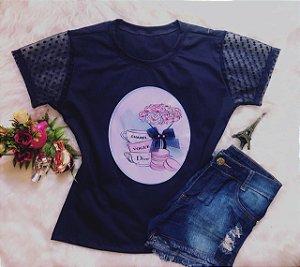 T-Shirt Flor Azul