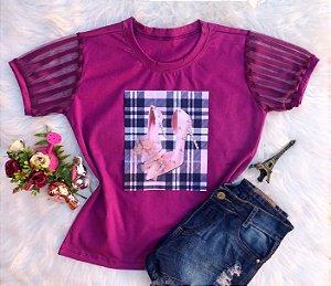 T-Shirt Sapatinho Rosa