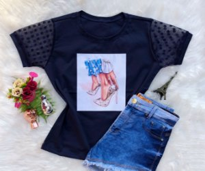 T-shirt sapato azul