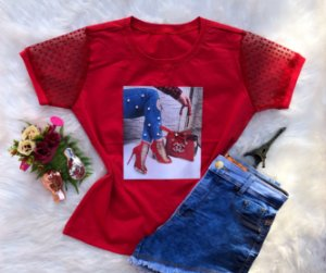 T-shirt bolsa vermelha