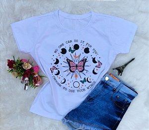 Tshirt Branca Borboleta