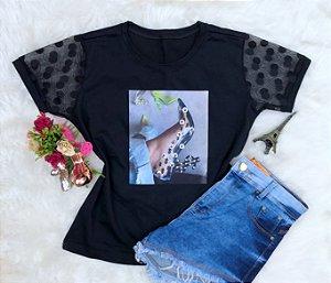 Tshirt Sapato preto