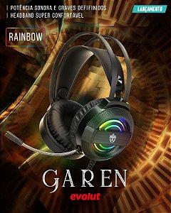 Headset Gamer Garen Rainbow USB EG320 Evolut