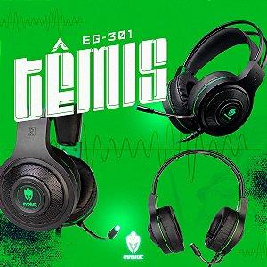 Headset Gamer Têmis EG-301GR 40MM P2 Evolut