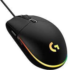 Mouse Gamer G203 RGB Lightsync 6 botões 8000Dpi Preto Logitech
