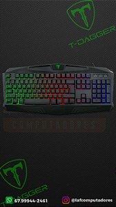 Teclado Gamer Tanker Rainbow Preto T-TGK106 T-Dagger