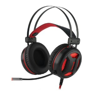 Headset Gamer Minos Pto 7.1 Usb Led Vermelho H210 Redragon